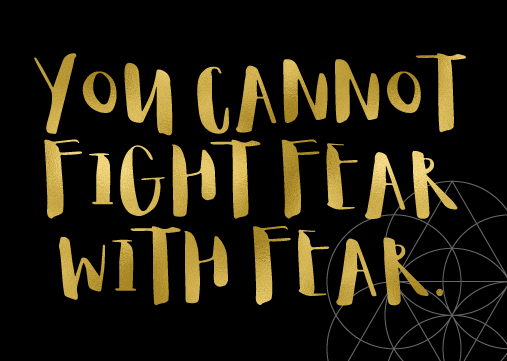 Let's talk about resistance, You cannot fight fear with fear, Mariaestela, Coach, Teacher, ACIM